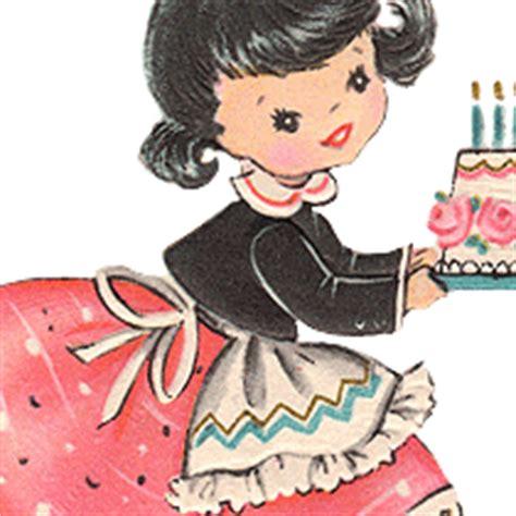 graphics pretty retro birthday girl clip art