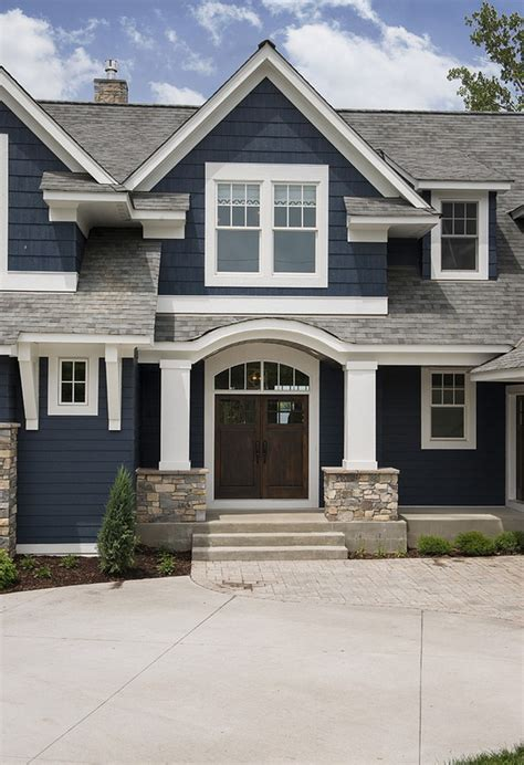 Lake House With Navy Exterior  Home Bunch Interior Design