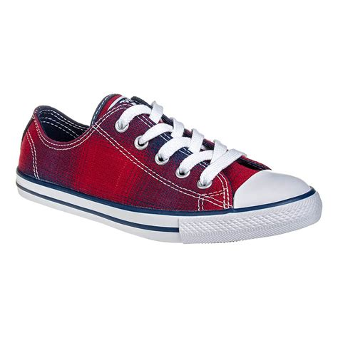 converse all dainty chili plaid shoe slimline trainers