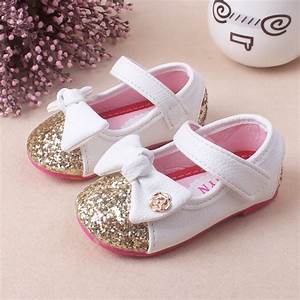 2016 Baby Girl Princess Sparkly bowknot Shoes Infant Cute ...