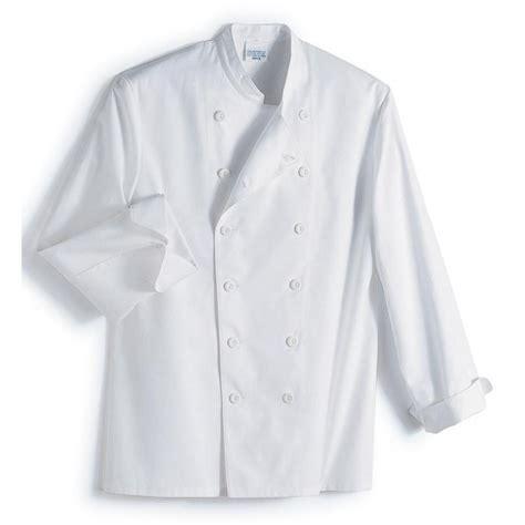 veste cuisine col officier 100 coton