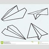 black-paper-airplane-clipart