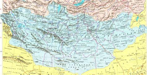 Практическая информация по странам + карты: Карта Монголии.