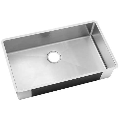 stainless steel single bowl undermount kitchen sink elkay undermount stainless steel 32 in 0 hole single bowl