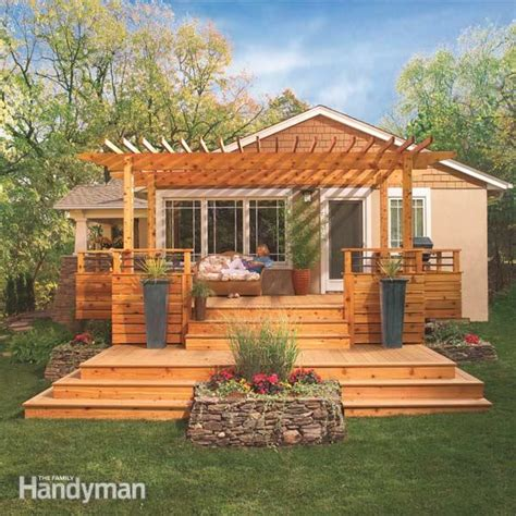 backyard deck plans dream deck plans the family handyman