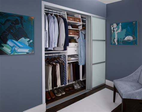 his hers reach in closet modern closet new york