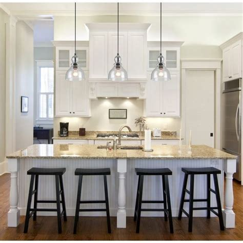Kitchen, Over The Island Lighting Kitchen Pendant Light