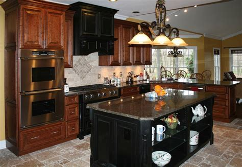 Cherry Wood Kitchen Cabinets With Black Granite ? TEDX