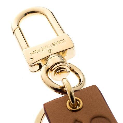 louis vuitton supreme logo brown leather key ring keychain  sale  stdibs