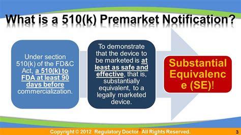 Us Fda Pre Market Notification 510 K Fda 510 K Premarket Notification