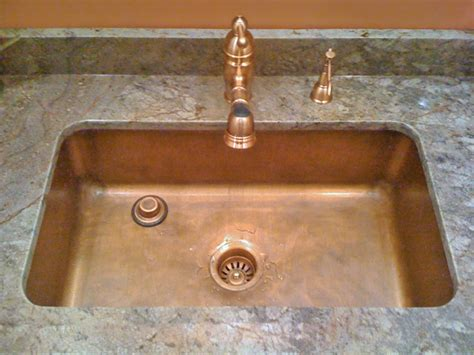 kitchen sink cleaner copper kitchen sink add a touch of elegance to any kitchen 2619