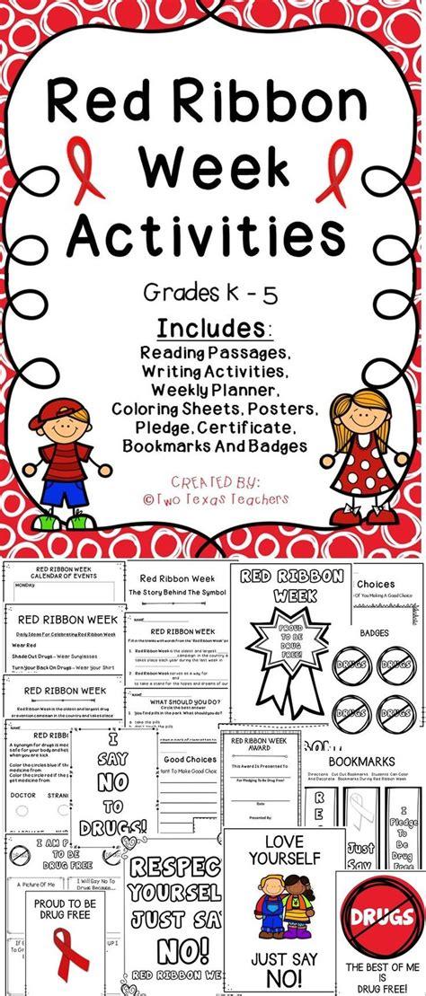 red ribbon week two texas teachers colegios primeros