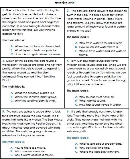 main idea worksheets 3rd grade 1 reading main idea worksheet reading comprehension