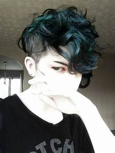petrol blue | hair.lust | Pinterest | Shaved undercut ...