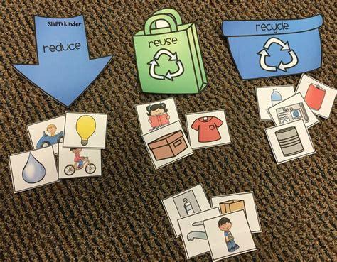 printable recycling sort   ways kindergarten