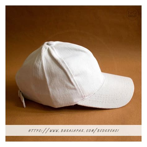 jual topi baseball cap putih polos pria