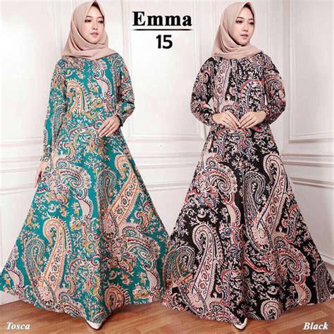 jual hijab modern maxi dress batik  busana muslim baju abaya gamis  lapak lukman omuman