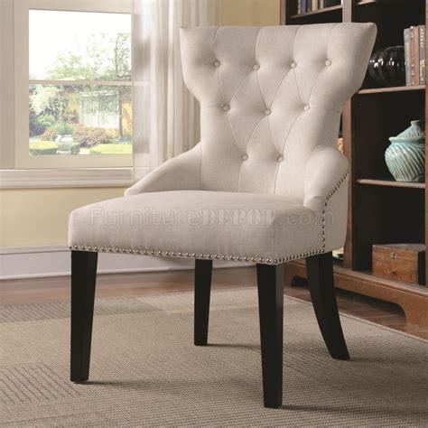 accent chair set    cream fabric  coaster