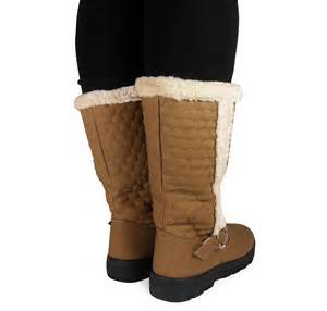s winter boots size 12 wide womens wide calf warm winter buckle flat boots shoes size 4 5 6 7 8 ebay
