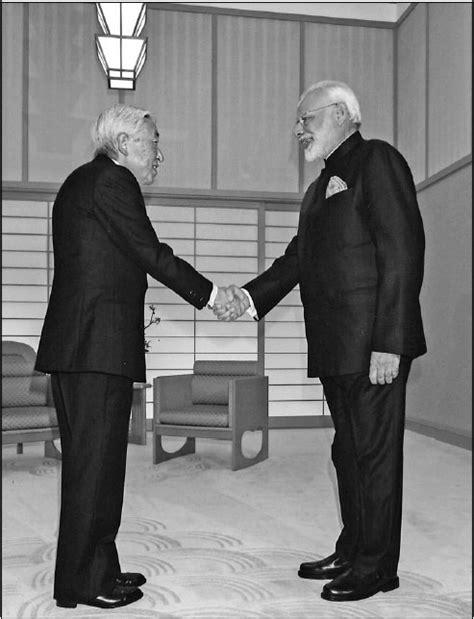 indian prime minister narendra modi  shakes hands