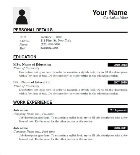 free template for resumes to download 15 resume templates free samples examples