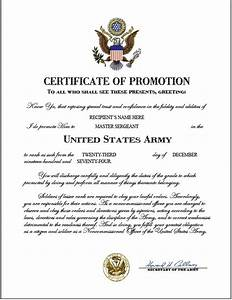 Enchanting usmc promotion warrant template photos resume for Army promotion certificate template