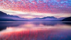Pink, Clouds, Landscape, 4k, 5k, Wallpapers