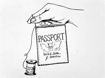 Drawing Passport Born Citizenship Natural Privilege Illustration