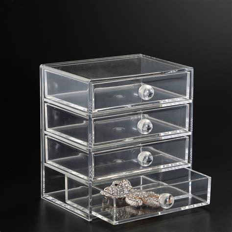 acrylic drawer organizer four drawer acrylic storage chest in craft storage