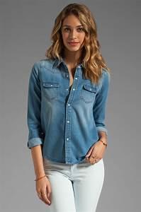 Lyst - Joeu0026#39;s jeans Western Denim Shirt in Blue