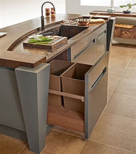 kitchen trash can ideas kitchen pull out trash bins both functional and aesthetical