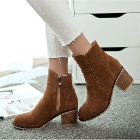 New Fashion Boots Spring Autumn Women Shoes Square
