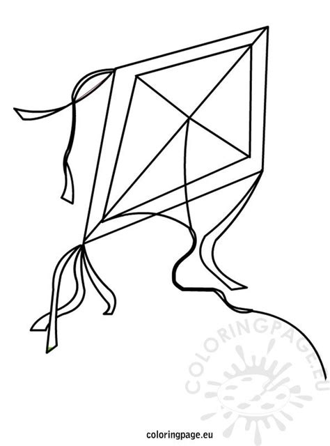 kite coloring page coloring page