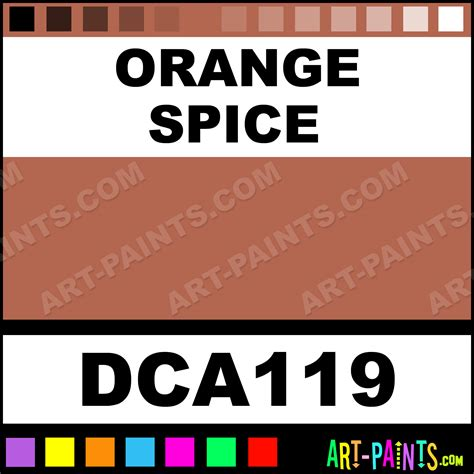 orange spice crafters acrylic paints dca119 orange