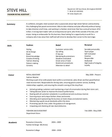 Resume Exles For Retail by Retail Resume Objective 5 Exles In Word Pdf