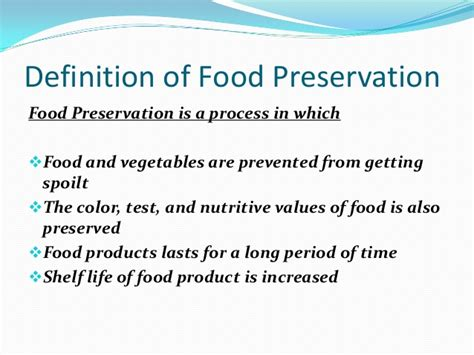 cuisines meaning importance of food preservation