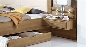 Bett Mit Ablagefläche : nachttisch schwebend in eiche teilmassiv mit schublade toride ~ Sanjose-hotels-ca.com Haus und Dekorationen