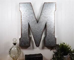 Large metal letter inch wall decor