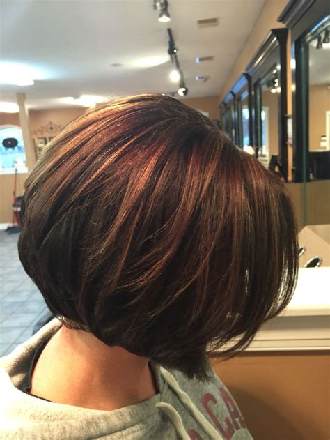And Brown Bob Hairstyles by Inverted Bob Chocolate Brown With Caramel Highlights