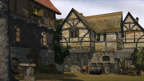medieval city animated video background stock footage