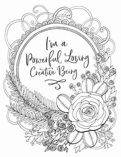 Coloring Affirmation Birth Pregnancy Affirmations Pregnant Positive