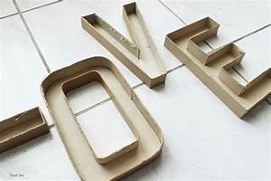 Lettre En Carton À Peindre : diy tutoriel facile pour r aliser des lettres lumineuses ~ Nature-et-papiers.com Idées de Décoration