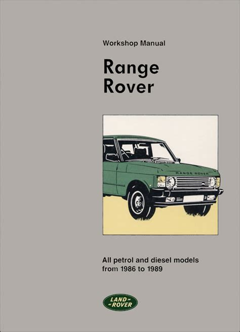 automotive service manuals 1989 land rover range rover free book repair manuals front cover range rover range rover repair manual 1986 1989 bentley publishers repair