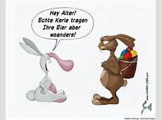 Cartoon Rüsselhase vs Osterhase