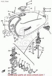 Yamaha Sr500 1981 Usa Fuel Tank