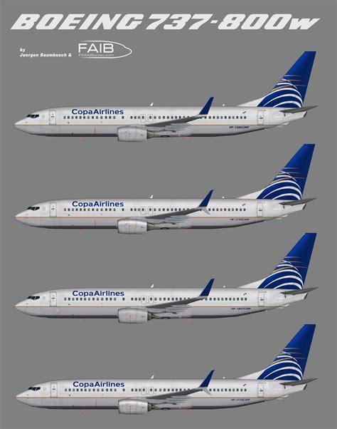 copa airlines boeing 737 800w juergen 39 s paint hangar