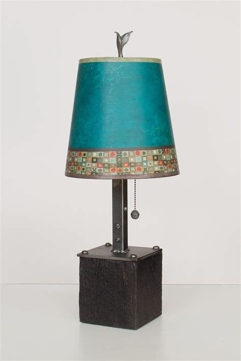 small drum l shade steel table l on wood with small drum shade in jade