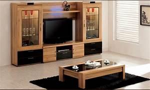 Meubles De Salon En Bois : mod les de meuble tv en bois ~ Teatrodelosmanantiales.com Idées de Décoration