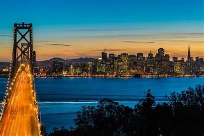 Francisco San Bay Bridge California Oakland Night