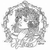 Coloring Pages Zodiac Libra Virgo Adult Colouring Printable Signs Sagittarius Adults Sheets Beauty Colors Para Mandalas Signos Designs Colorear Dibujo sketch template